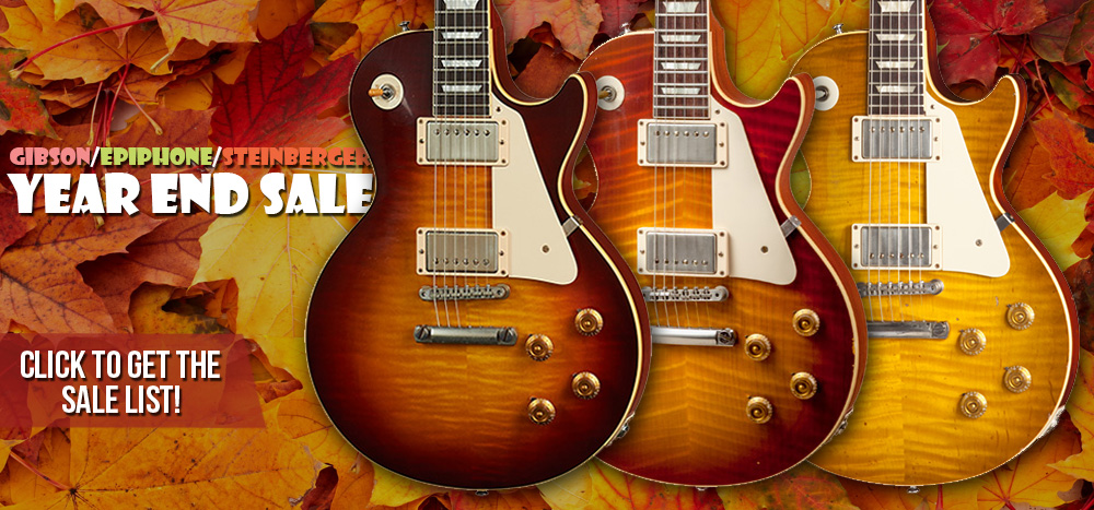 GIBSON EPIPHONE STEINBERGER SALES EVENT website