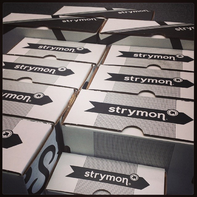 Big shout out to Teri and the rest of the @strymonengineering team for signing us up to be the newest authorized Strymon dealer! More to come... #strymon #tone #guitar #gear #geartalk #gearwire #tonefordays #pedalsfordays #pedals #pedalboard